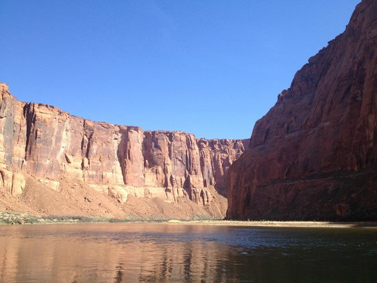 Colorado River Discovery : View up from the Colorado River