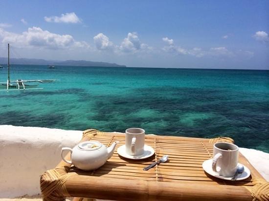 Spider House Resort: pause café /thé après avoir nagé
