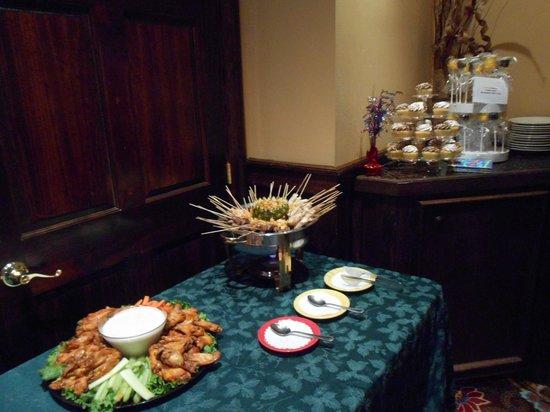 The Bungalow Alehouse: Party Platters:  Chicken Wings, Steak/Shrimp/Chicken Skewers