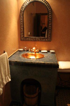 Riad Ahlam : Das Bad unserer Suite
