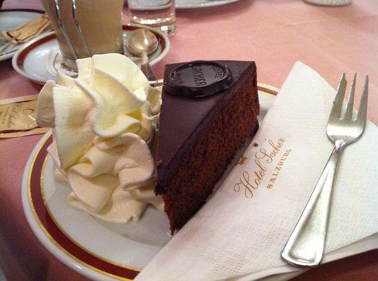 Café Sacher Salzburg: Tarta Sacher y Wiener melange