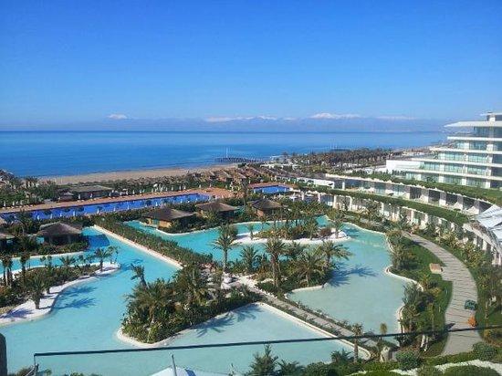Maxx Royal Belek Golf Resort: View from Room 1656 towards Mountains near Antalya