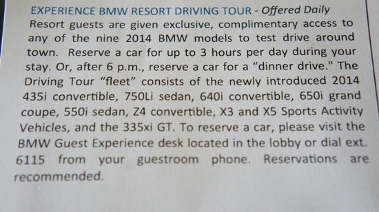 The Ritz-Carlton, Sarasota : BMW Resort Experience