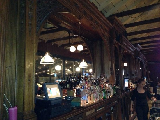 The Depot Grill: The beautiful bar inside the Depot!!
