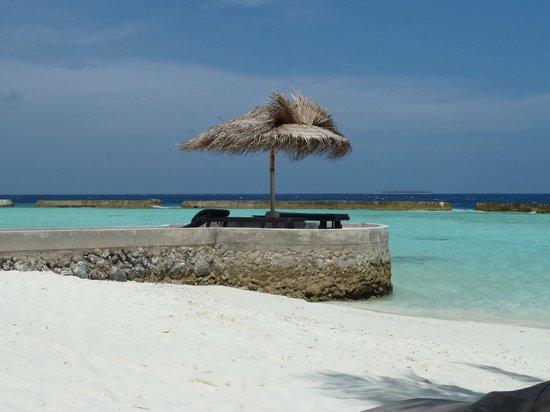 Ellaidhoo Maldives by Cinnamon : Jetty near beach bungalows 320 - 325