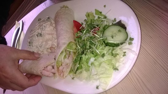 Trevaskis Farm: Chilli prawn wrap...MMMM