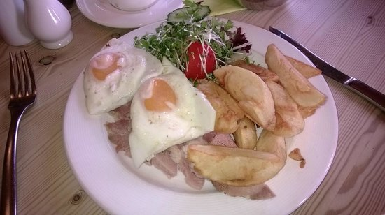 Trevaskis Farm: Ham egg and chips for simpler tastes.