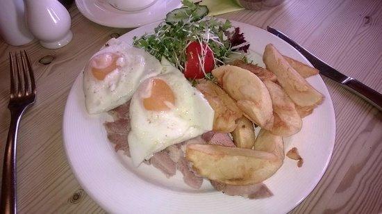 Trevaskis Farm: Ham egg and chips for simpler tastes.