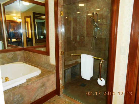 Montgomery Marriott Prattville Hotel & Conference Center at Capitol Hill : Walk in Shower