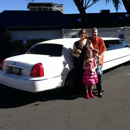 A Storybook Wedding Chapel: Our limo awaits....