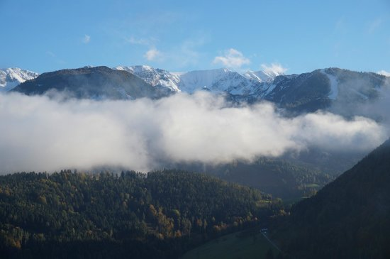 View of the Warschenecke from Gasthof Sonnfeld