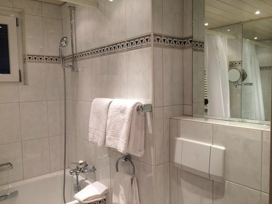Europe Hotel & Spa: Showered with lateral matterhorn-view