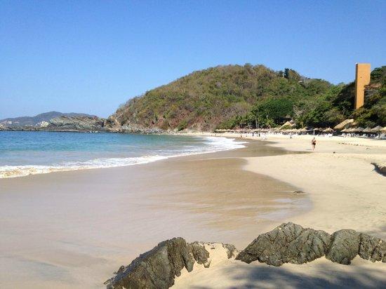 Las Brisas Ixtapa: The beach with Ixtapa beyond the hill