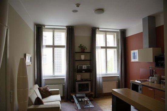 Mamaison Residence Belgicka Prague : Livingroom