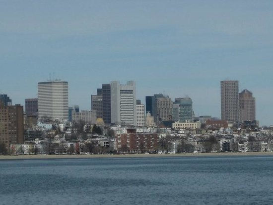 John F. Kennedy Presidential Museum & Library: View of the Boston Harbour