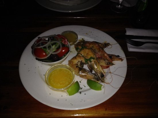 The Lemon Grass Seaside Restaurant: King prawns