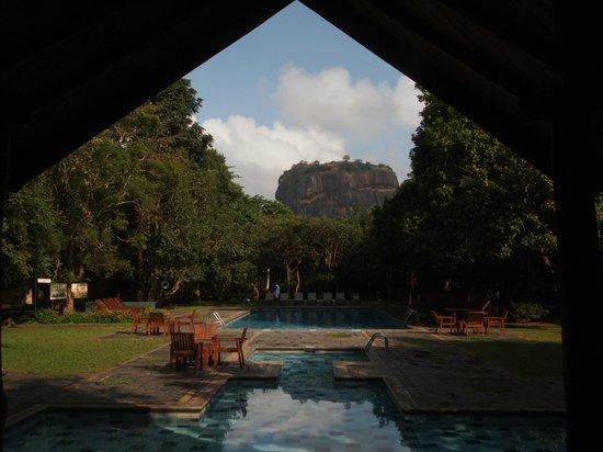 Sigiriya Village Hotel: View of Pool and Lion's Rock