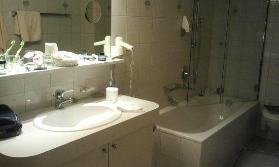 Roggal Hotel Pension: The bathroom