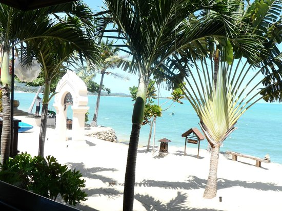 Fair House Villas & Spa: view from the retaurant, breakfast