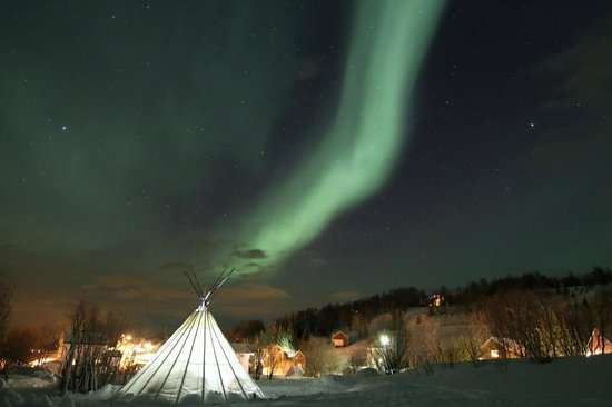 Koppangen Brygger Aurora Borealis over the Sami Tent & Aurora Borealis over the Sami Tent - Picture of Koppangen Brygger ...