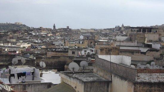 Riad Meski : vue de la terrasse