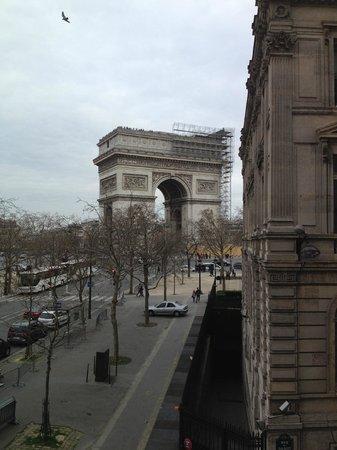 Hôtel Splendid Etoile : Vue de notre chambre