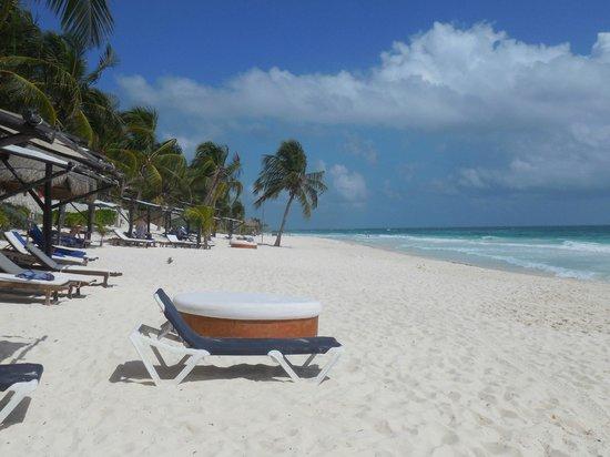 Las Ranitas Eco-boutique Hotel: Vue gauche de la plage