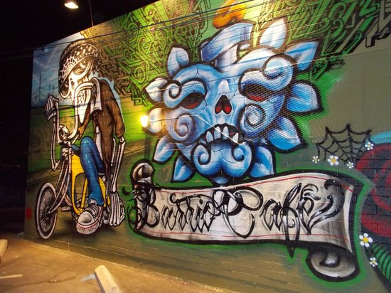 Barrio Cafe : Murals in the back parking lot...