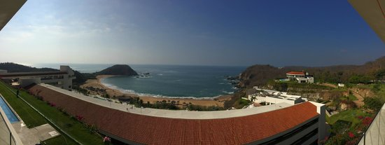 Secrets Huatulco Resort & Spa: View from Building One (less the orange roof of Building Three)