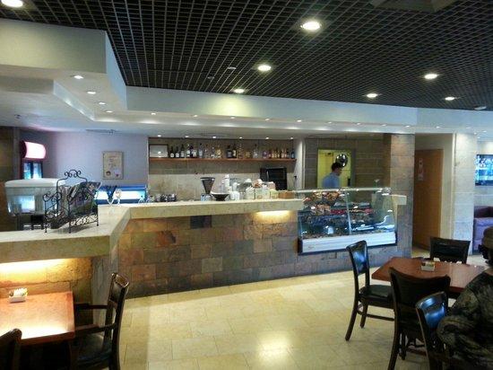 Hotel Kibbutz Shefayim : Vista de la cafetería