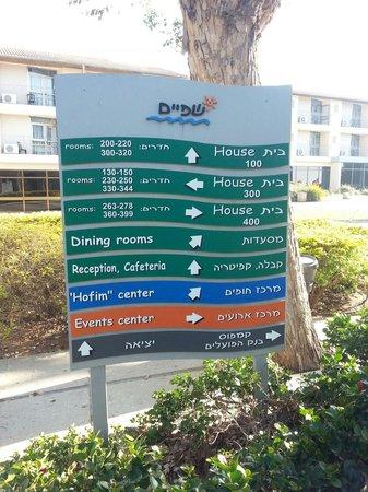 Hotel Kibbutz Shefayim : Cartel indicador