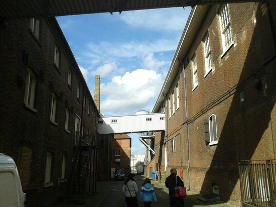 The Historic Dockyard Chatham: Between the building's.