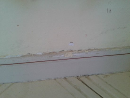 Mediterraneo Apartments: muck/dust on skirting board
