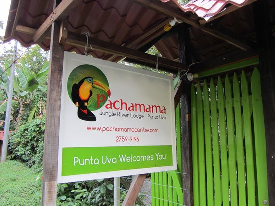 Pachamama Jungle River Lodge: Sign out front - can't miss it!