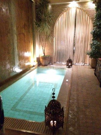 Riad Cocoon: The riad's reception room