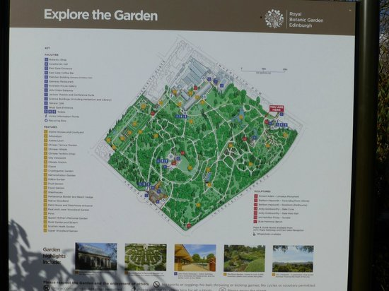 Royal Botanic Garden Edinburgh: Le plan
