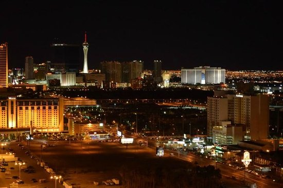 Signature at MGM Grand: Night view from balcony