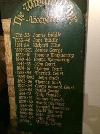 The Windmill Inn: dal 1720 tutti i gestori del pub