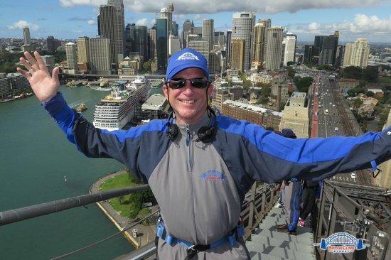 BridgeClimb: At the top.