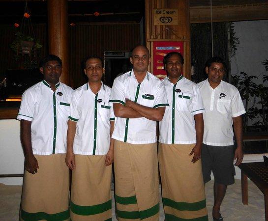 "Reethi Beach Resort: ""The boys"".  Great staff."