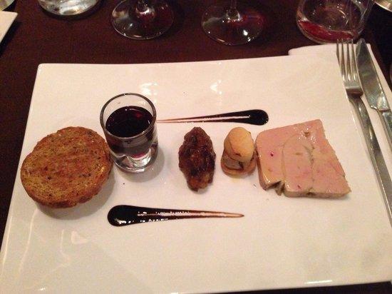 Les 5 sens : Entrée : foie gras. Exceptionnel !