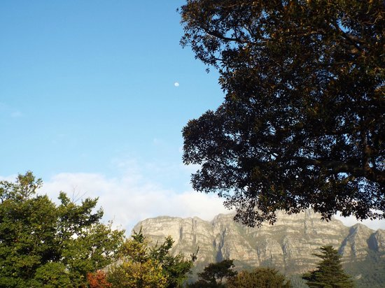 Riversong Guest House: Table Mountain with moon