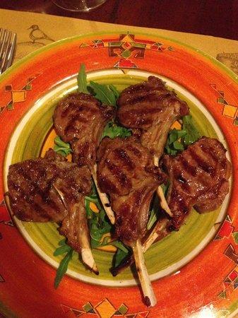 Trattoria Fontegiusta: Bistecchina d'agnello marinata