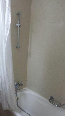 Kinar Galilee Hotel : Shower at Hermon pizga room.