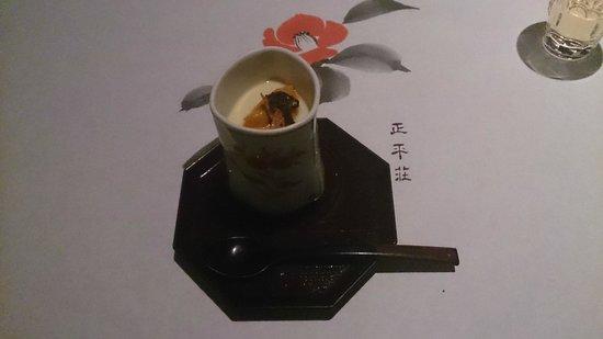 Shoheiso: ウニとフォアグラの茶碗蒸し