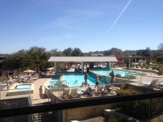 Lakeway Resort and Spa: view of the pool from the spa lounge