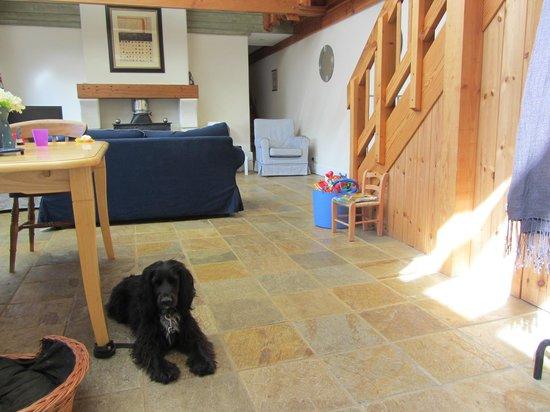 Flear Farm Cottages: Living room + kitchen