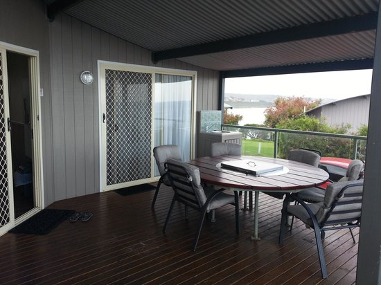 NRMA  Merimbula Beach Holiday Park: great deck.