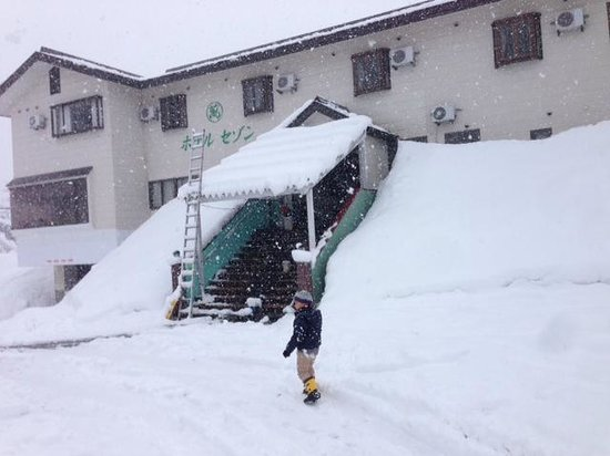 Ikenotaira Hotel Saison: 3月末の大雪