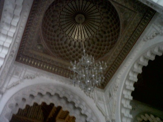 Mosquée Hassan II : Chandelier from inside the mosque